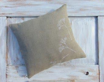 Pillow, linen pillow, rustic, linen textile, home decor, accent pillow, decorative pillow case