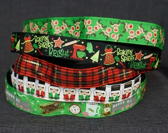 Winter Holiday Non-slip Headband - Baking Spirits Bright, Plaid, Reindeer, Nutcracker, Christmas, Polar Express Train
