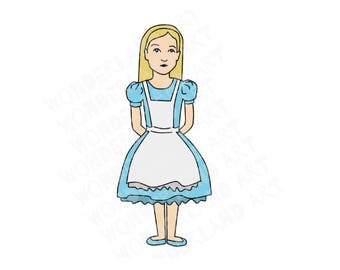 Alice/ little girl printable clipart/ sticker/ digital art