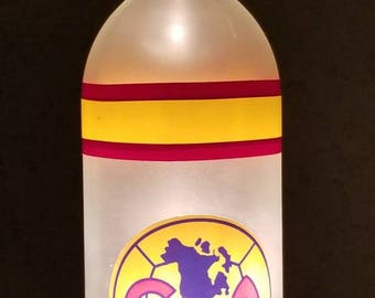 Small Handcrafted Club America FC Wine Bottle Lamp