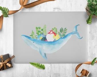 Macbook Decal Macbook Partial Sticker Vinyl Laptop Skin Whale Partial Sticker for Apple Macbook Air Macbook Pro 11/12/13/15 Retina 13/15