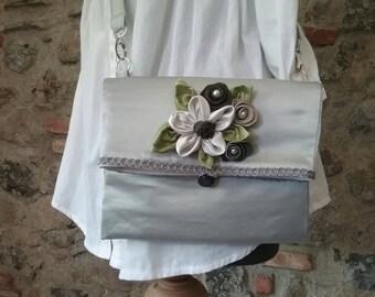 Silk satin clutch handbag,