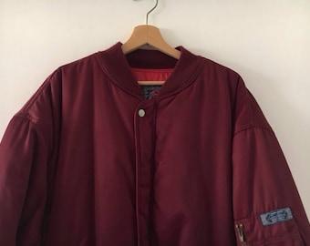 Vintage 90s bomber Jacket Size XXL Skinhead Style
