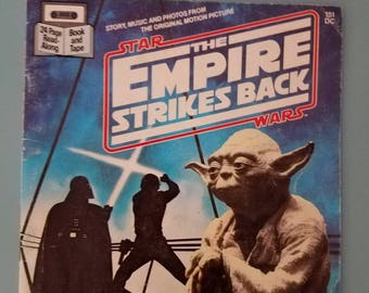 Star Wars The Empire Strikes Back Paperback 1980s Read-Along