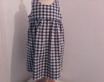 Dress 2 years old, cool Navy gingham,