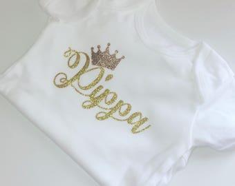 Personalised name girls baby onesie cake smash first birthday baby shower gift