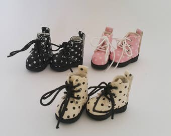 READY STOCK - Cute Polka Dot Boot Shoes for Blythe, Icy, Pullip Doll