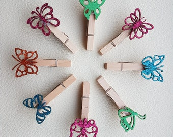 Butterfly note pegs set of 4