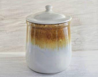 McCoy Pottery Canister - Cookie Jar - Vintage Graystone Canister - Mccoy, Nelson Graystone Flour Canister & Lid