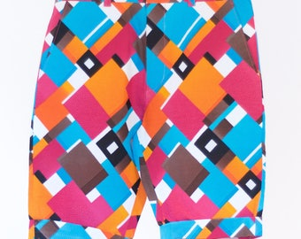 Colorful Kitenge Shorts