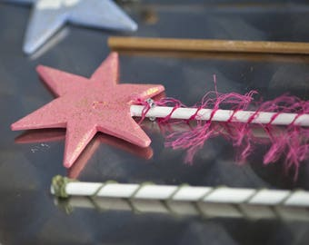 Wooden wand decorated