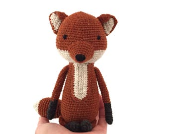 Fox soft toy, crochet fox, fox stuffed toy, softie, plushie