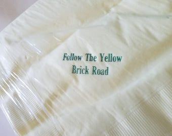 Follow the Yellow Brick Road Luncheon Napkins