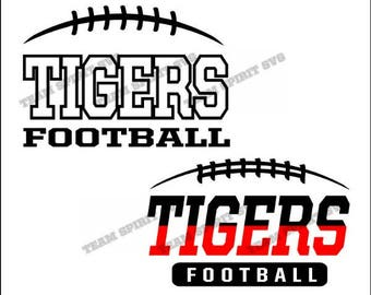 Tigers Football Laces Download Files - SVG, DXF, EPS, Silhouette Studio, Vinyl Cut Files, Digital Cut Files -Use with Cricut and Silhouette