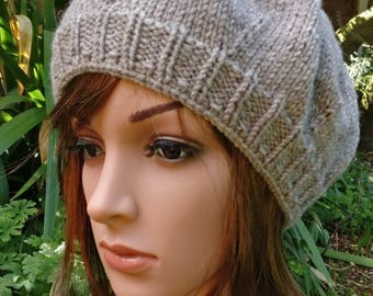 Knitted Beret,  Winter Hat, Knitted Beret Hat, Hat For Women, Wool Hat