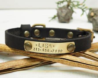 Cat Collar, Dog Collar, Small Dog Collar, Collar Leather, Leather  Collar, Personalized Collar, Personalized Cat Collar, Dog Name Plate