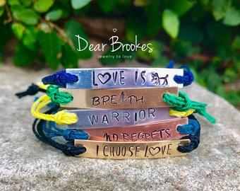 Custom Bracelet, Personalized Bracelet, Hand Stamped Jewelry, Hand Stamped Bracelet, Gift Idea