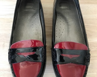 Vintage patent leather loafers