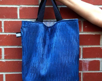 Reversible Ladies Tote Bag// Faux Leather Vegan Shoulder Bag// Super Heavy Duty Large Handbag
