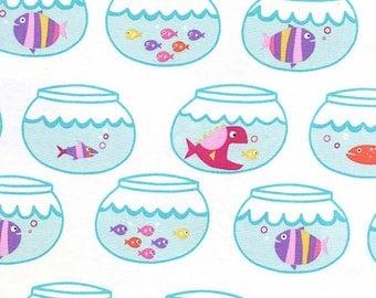 Mermaid Fish Bowls from the Mer-Mates Collection from Michael Miller Fabrics, Guppies, Fish, Aquarium, Fish Bowl