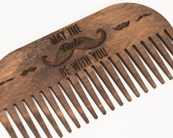 Beard comb - Wooden comb - Wood comb - Men comb - Beard comb men - Mustache comb - Men beard - Wooden beard comb - Men beard gift
