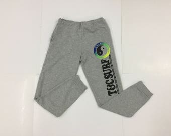 T&C Surf Jogger Pants/TC Surf Designs Hawaii Trousers/Activewear Surf Surfing/Heather Grey/Size 160