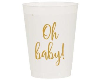 "Baby Shower Party Cups ""Oh Baby!"" (12)"