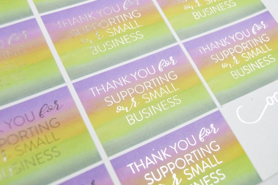 Watercolor Shop Stickers Product Packaging Small Business - Custom business stickers