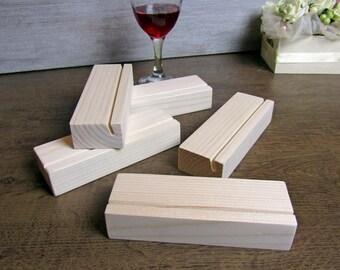 5pc Wood Table Number Holders Set, Wedding Table Numbers, Wedding sign holder, Wood table number stand,