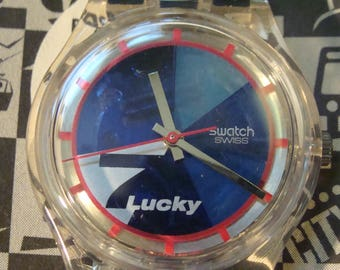 Vintage Swatch Watch - Lucky 7