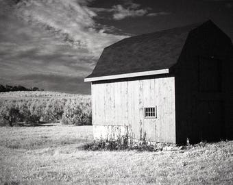 Infrared Barn.  Limited Edition Signed Black and White Prints.  Infrared Film Photography.  Printed in the Darkroom.