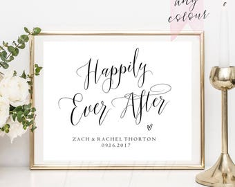 happily ever after printable wedding sign wedding sign fairytale wedding reception