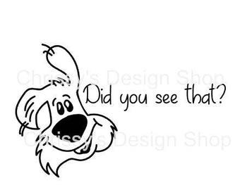 Line art dog cartoon svg / silly dog svg / cartoon dog svg / dxf / eps / png / funny quotes svg / cut files / line art prints / stencil