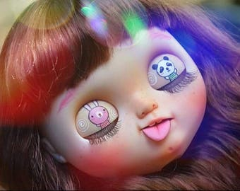 "For adoption: Cute""Patsy""hope you bring her see panda,blythe custom by WowJoBlythe"
