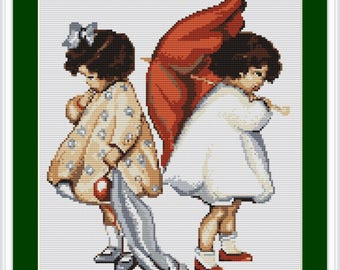 Luca-S Counted Cross Stitch Kit Girls Upset B379 Lucas