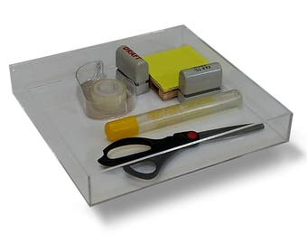 Office Supplies Desk Drawer Organizer For Scissors, Pens, Markers,  Highlighters, Tape