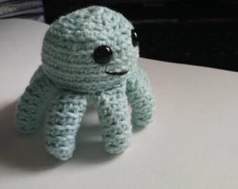 Minty green octopus
