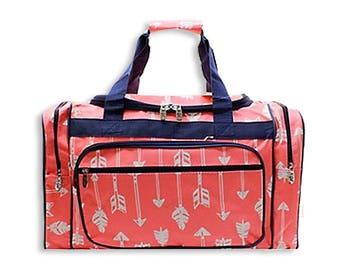 """Monogrammed Duffle-Personalized Duffle-Boy Duffle-Overnight bag-Camo-Duffel-Cars-Chevron-Duffle-suitcase-20"""" Duffle-Anchors-Ikat-Arrows"""