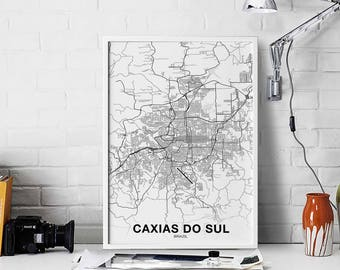 Mapa do brazil Etsy