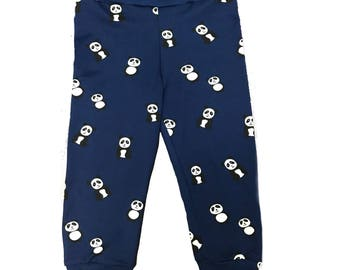 Navy Panda Joggers Leggings Pants