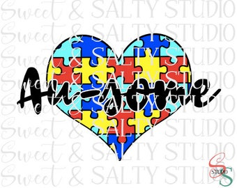 au-some autism heart digital file