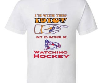 I'd Rather Be Watching Ice Hockey T-Shirt,ice hockey girls,hockey clothing,high school ice hockey,youth ice hockey apparel, kids tshirts