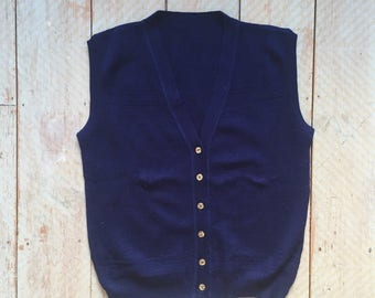 Navy Tank with Sparkly Buttons