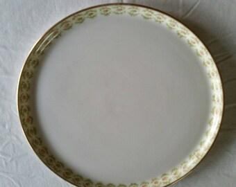 """antique j p l limoges france 10.75"""" serving plate / tray - j pouyat porcelain ceramic vintage kitchen serving victorian art nouveau deco"""