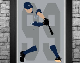 AARON JUDGE minimalism style limited edition art print. Choose from 5 sizes! New York Yankees