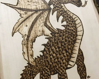 Dragon Woodburning
