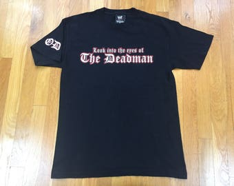 Vintage Undertaker tshirt size M black OD Wwf wwe look into the eyes of the deadman wrestling
