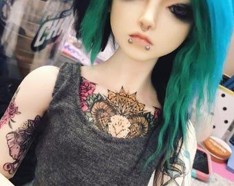 Custom bjd yarn wig