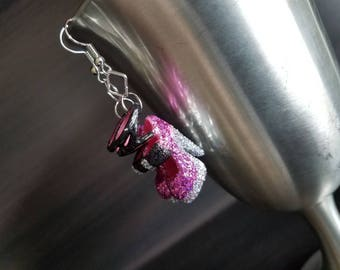Punked out Pink earrings, Barbie Shoe Earrings, Statement Earrings, Barbie Earrings, Barbie