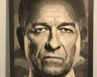 Alfred from gotham spray painted original